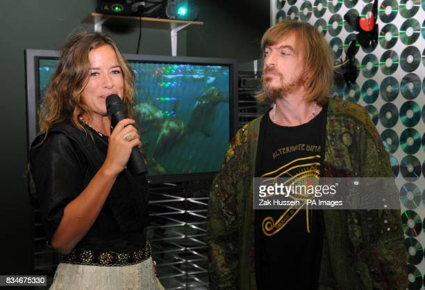 Jade Jagger and Matt Black of Coldcut attend the launch of Club4Climate the world's first ecological night club at Surya in central London