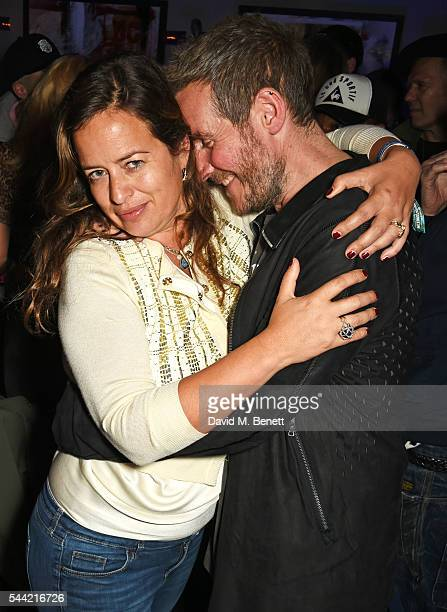 Jade Jagger and Robert Del Naja attend the Massive Attack after party at 100 Wardour St following their performance at the Barclaycard British Summer...