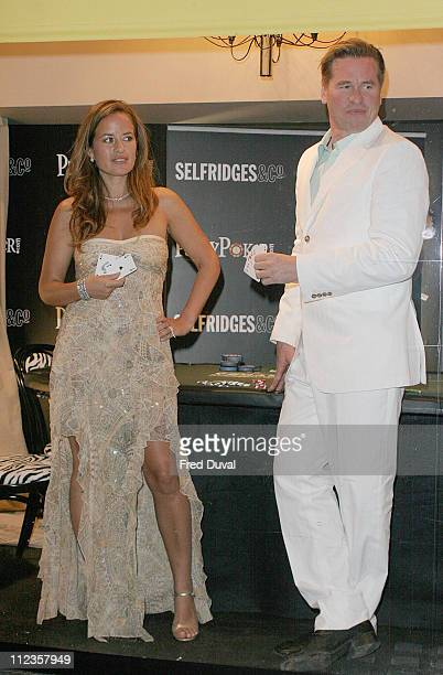 Jade Jagger and Val Kilmer celebrate Vegas centenary with an exclusive midnight poker game in the shop window of Selfridges department store in London