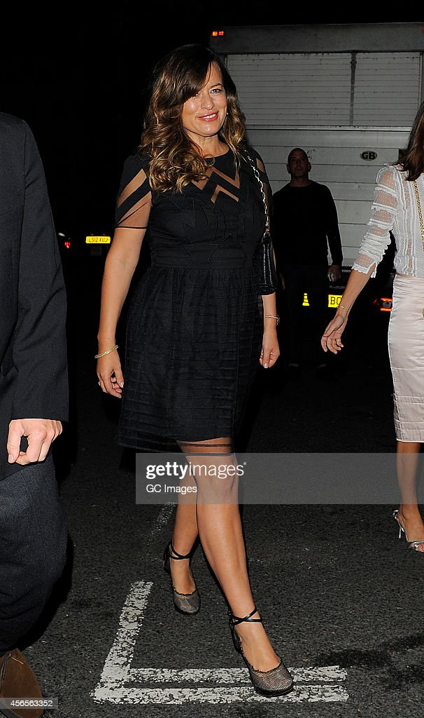 Jade Jagger arrives at 28 Morton's Members Club 2nd birthday party in Berkeley Square Mayfair on October 2 2014 in London England