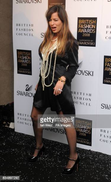 Jade Jagger arrives for the 2008 British Fashion Awards at the Royal Horticultural Hall 80 Vincent Square London