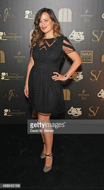 Jade Jagger attends the 10th anniversary of Mortons in Berkeley Square Gardens on October 2 2014 in London England