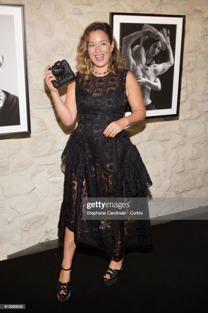 Jade Jagger attends the 'Don't Take it Personally' by Jade Jagger & Jean-Baptiste Pauchard Exhibition Party on July 6, 2017 in Paris, France.