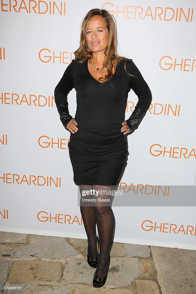 Jade Jagger attends the Gherardini Boutique Opening during the Milan Fashion Week Womenswear Autumn/Winter 2014 on February 21 2014 in Milan Italy