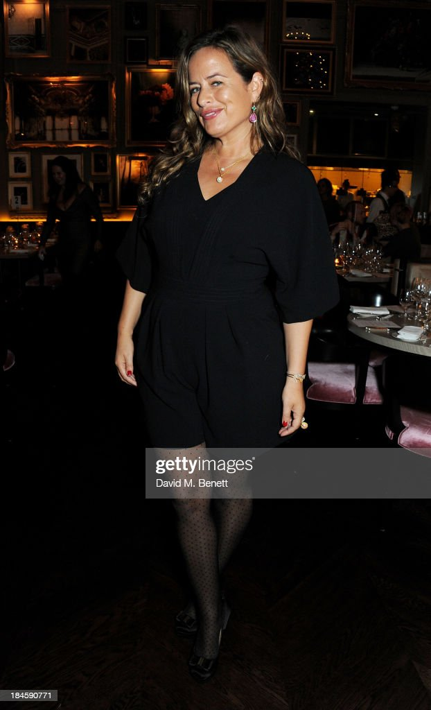 Jade Jagger attends the London EDITION and NOWNESS dinner to celebrate ON COLLABORATION on October 14 2013 in London England