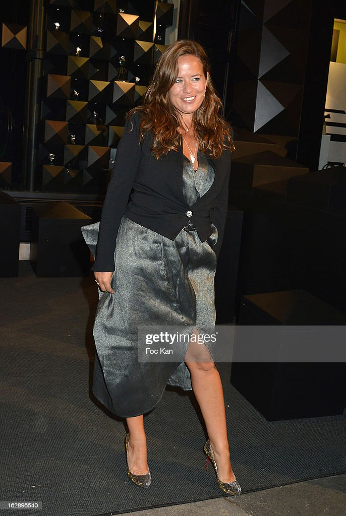Jade Jagger attends the opening of the Karl Lagerfeld concept store during Paris Fashion Week Fall/Winter 2013 at Karl Lagerfeld Concept Store Saint Germain on February 28, 2013 in Paris, France.