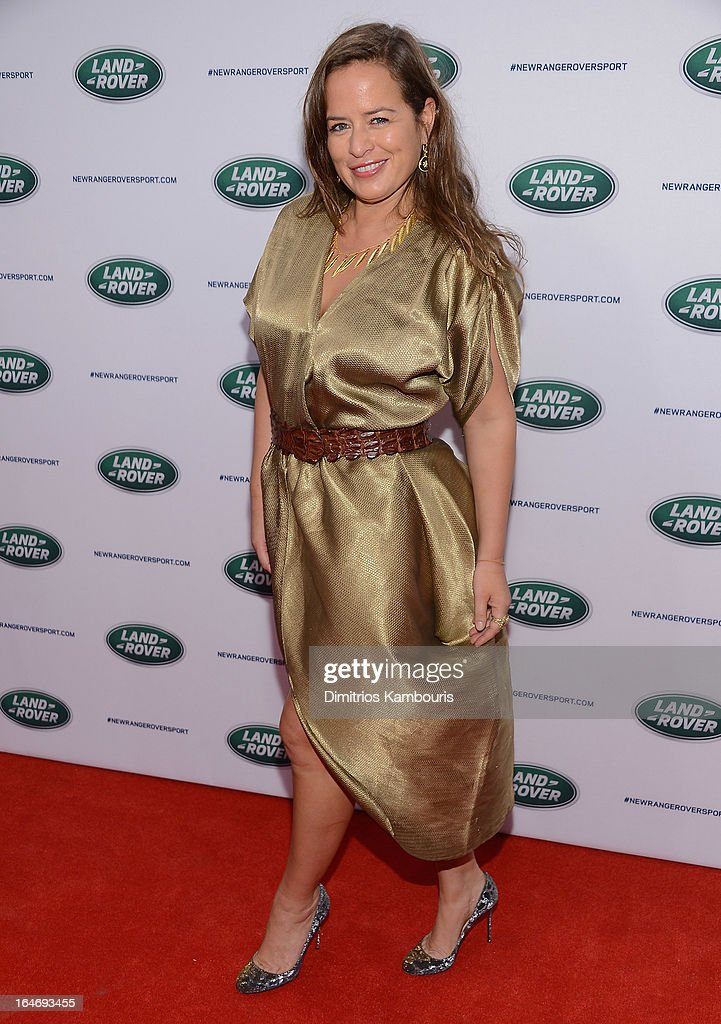 Jade Jagger attends the Range Rover Sport world unveiling at the 2013 New York Auto Show at Skylight at Moynihan Station on March 26, 2013 in New York City.