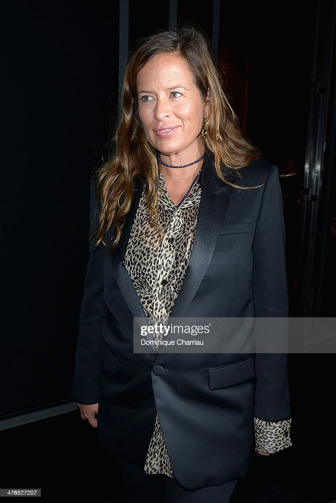 Jade Jagger attends the Saint Laurent show as part of the Paris Fashion Week Womenswear Fall/Winter 20142015 on March 3 2014 in Paris France