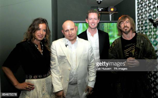 Jade Jagger club owner Andrew Charalambous Greg Parker and Matt Black of Coldcut attend the launch of Club4Climate the world's first ecological night...