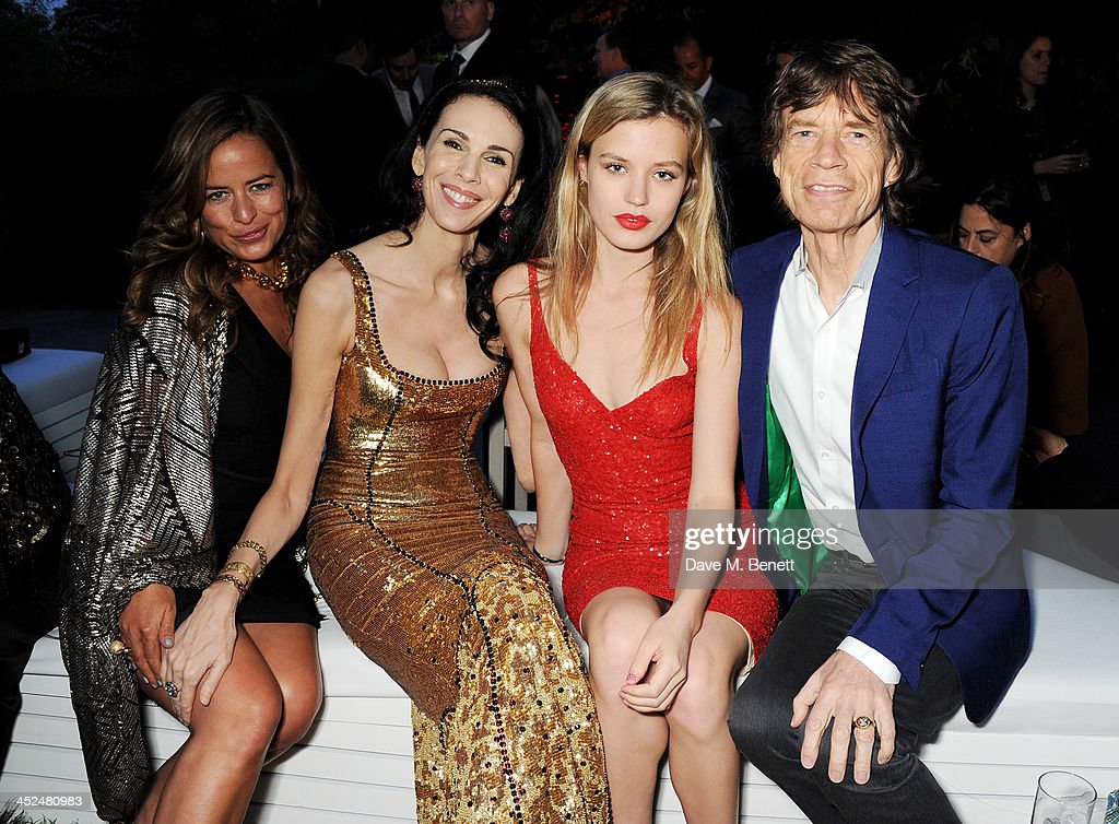 Jade Jagger, L'Wren Scott, Georgia May Jagger and Mick Jagger attend the annual Serpentine Gallery Summer Party co-hosted by L'Wren Scott at The Serpentine Gallery on June 26, 2013 in London, England.
