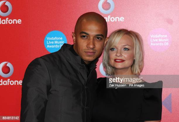 Jade Jones and Emma Bunton arrive for the Vodafone Live Music Awards 2008 at Brixton Academy Brixton London