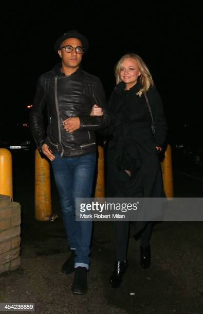 Jade Jones and Emma Bunton at Gilgamesh restaurant on December 7 2013 in London England