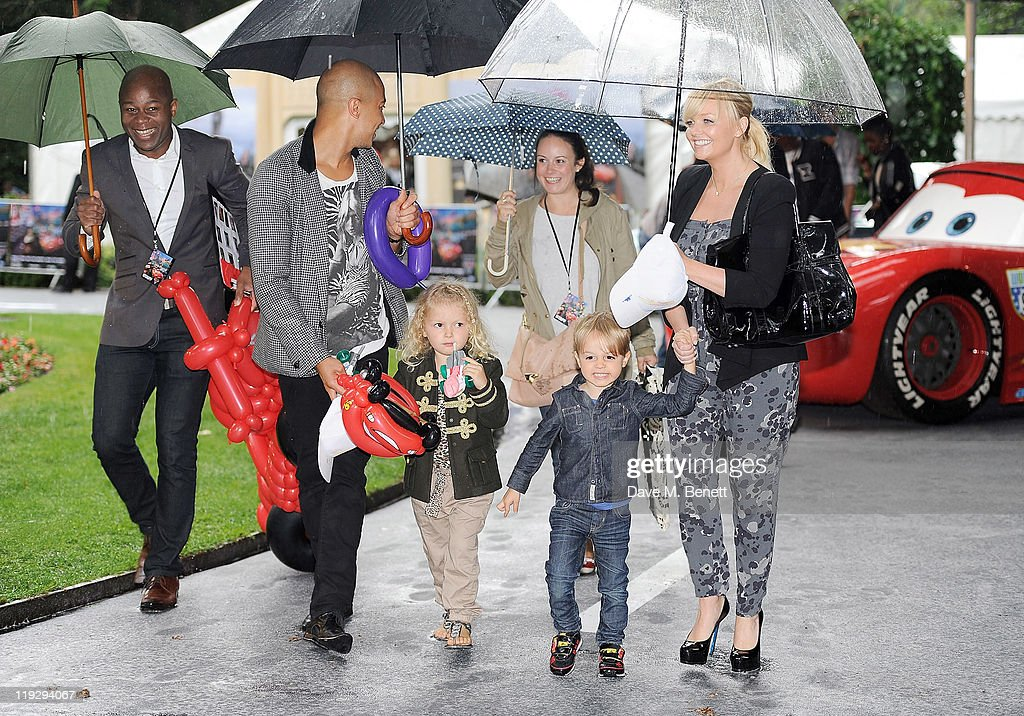 Jade Jones (2L) and <a gi-track='captionPersonalityLinkClicked' href=/galleries/search?phrase=Emma+Bunton&family=editorial&specificpeople=201973 ng-click='$event.stopPropagation()'>Emma Bunton</a> (R) attend a pre-party celebrating the UK Premiere of CARS 2 at Whitehall Gardens on July 17, 2011 in London, England.