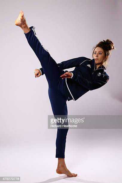 Jade Jones of Team GB during the Team GB kitting out ahead of Baku 2015 European Games at the NEC on May 30 2015 in Birmingham England