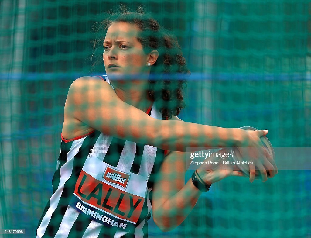 Jade Lally of Great Britain in the womens discus throw during day three of the British Championships Birmingham at Alexander Stadium on June 26, 2016 in Birmingham, England.