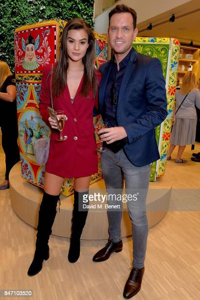 Jade Lewis and Jamie Reed attend the opening party for the new smeg flagship store on Regents Street on September 14 2017 in London England