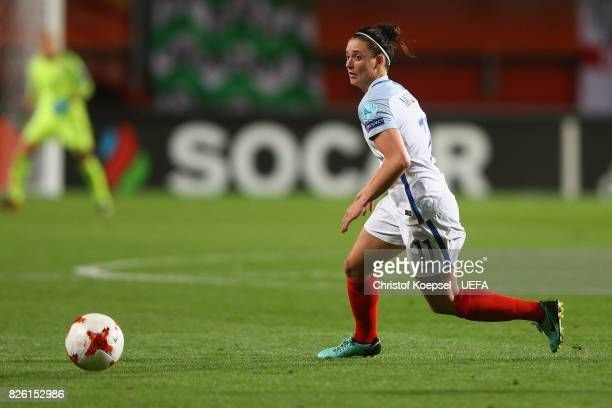 Jade Moore of England runs with the ball during the UEFA Women's Euro 2017 Second Semi Final match between Netherlands and England at De Grolsch...