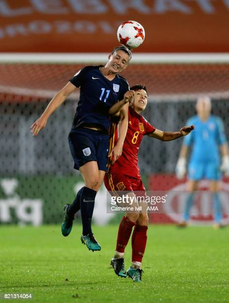 Jade Moore of England Women and Amanda Sampedro of Spain Women during the UEFA Women's Euro 2017 match between England and Spain at Rat Verlegh...