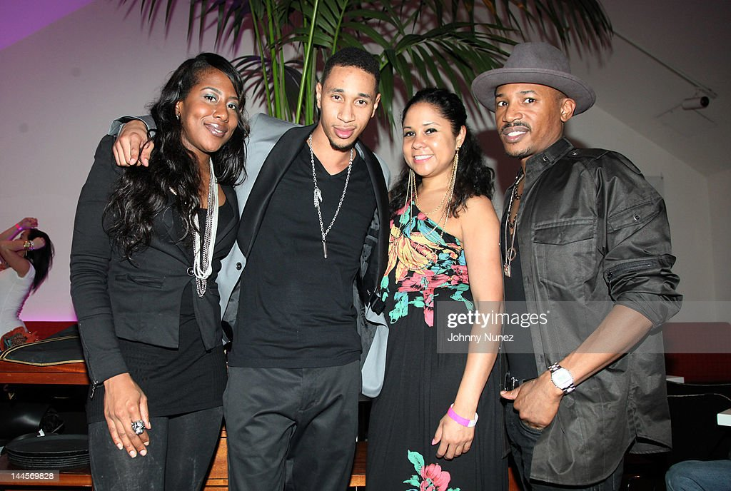 Jade Norfleet, Emanny, <a gi-track='captionPersonalityLinkClicked' href=/galleries/search?phrase=Angela+Yee&family=editorial&specificpeople=4443054 ng-click='$event.stopPropagation()'>Angela Yee</a>, and Lindell Palmer attend Hudson Cafe on May 15, 2012 in New York City.