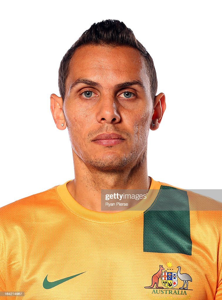 Jade North of Australia poses during a Socceroos Portrait Session on March 21, 2013 in Sydney, Australia.