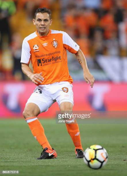 Jade North of Brisbane kicks the ball during the round two ALeague match between the Brisbane Roar and Adelaide United at Suncorp Stadium on October...