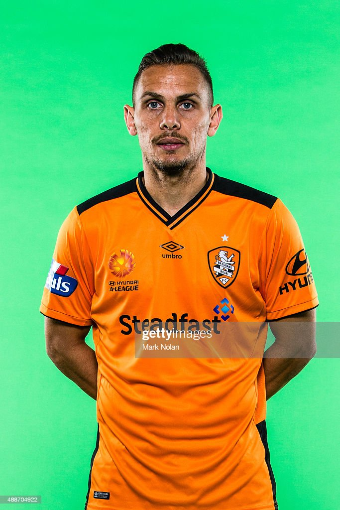 Jade North poses during the Brisbane Roar A-League headshots session at Fox Sports Studios on September 17, 2015 in Sydney, Australia.
