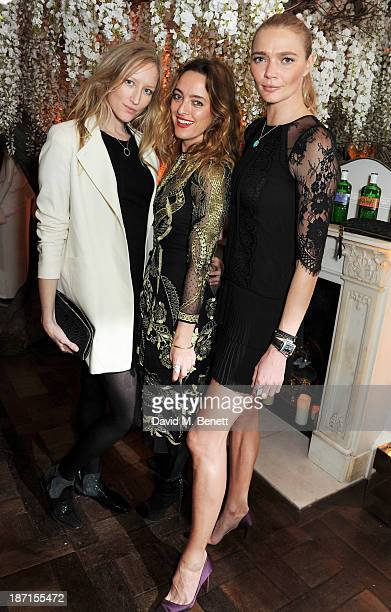 Jade Parfitt Alice Temperley and Jodie Kidd attend the Gordon's and Temperley London VIP launch party at Temperley London on November 6 2013 in...