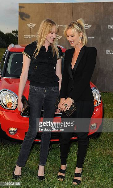 Jade Parfitt and Eva Herzigova attend photocall to launch the MINI Countryman open air event on June 8 2010 in London England