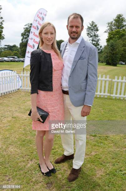 Jade Parfitt and Jack Dyson attend the Kent and Curwen Royal Charity Polo Cup at Watership Down Sydmonton Court Estate on July 19 2014 in Newbury...
