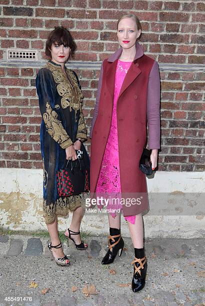 Jade Parfitt and Jasmine Guinness attend the GILES show during London Fashion Week Spring Summer 2015 on September 15 2014 in London England