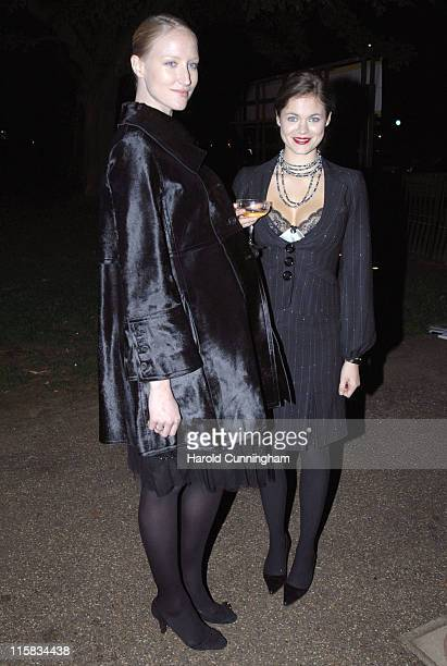 Jade Parfitt and Jasmine Guinness during Vogue and Motorola Celebrate the Magazine's 90th Anniversary Arrivals at The Serpentine Gallery in London...