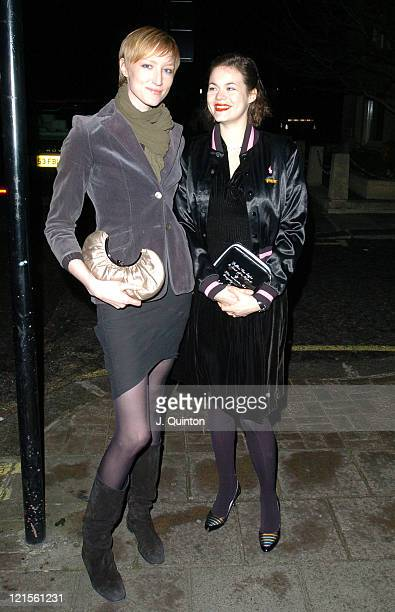 Jade Parfitt and Jasmine Guinness during Zac Posen Spring/Summer 2005 Collection Launch Party at The Blue Bar The Berkley Hotel in London Great...