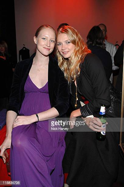 Jade Parfitt and Jodie Kidd during Donna Karan Celebrates the Launch of Her New Fragrance 'Gold' at Donna Karen Store in London Great Britain