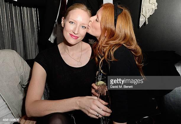 Jade Parfitt and Olivia Inge attend Nightmare on Wardour Street at Wyld Bar on October 30 2014 in London United Kingdom