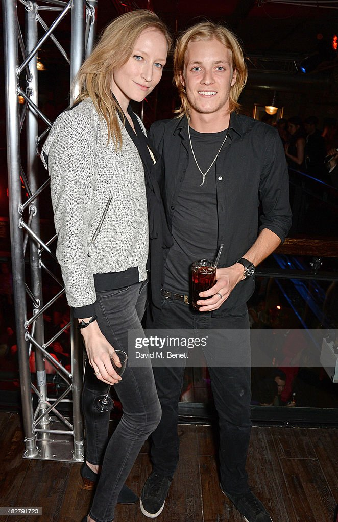 <a gi-track='captionPersonalityLinkClicked' href=/galleries/search?phrase=Jade+Parfitt&family=editorial&specificpeople=630420 ng-click='$event.stopPropagation()'>Jade Parfitt</a> (L) and Rufus Taylor attend the launch of MODE in Notting Hill on April 4, 2014 in London, England.