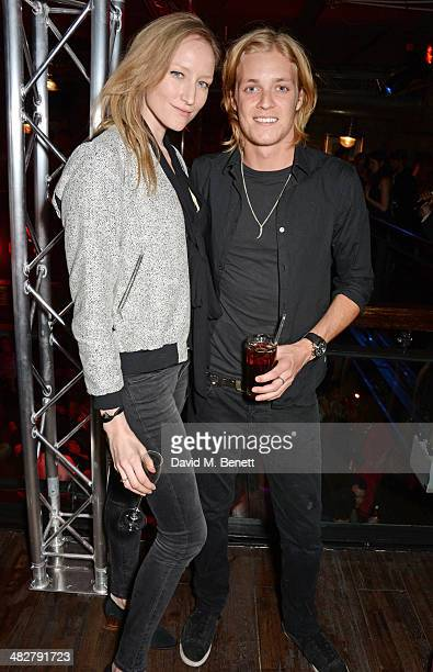 Jade Parfitt and Rufus Taylor attend the launch of MODE in Notting Hill on April 4 2014 in London England