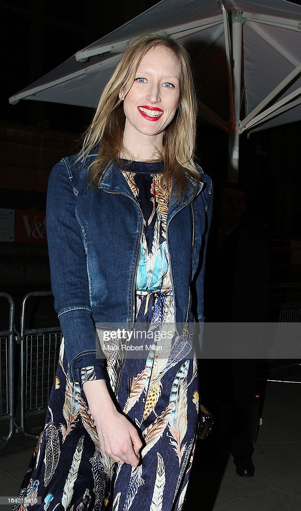 Jade Parfitt at the private view of 'David Bowie Is' at Victoria & Albert Museum on March 20, 2013 in London, England.