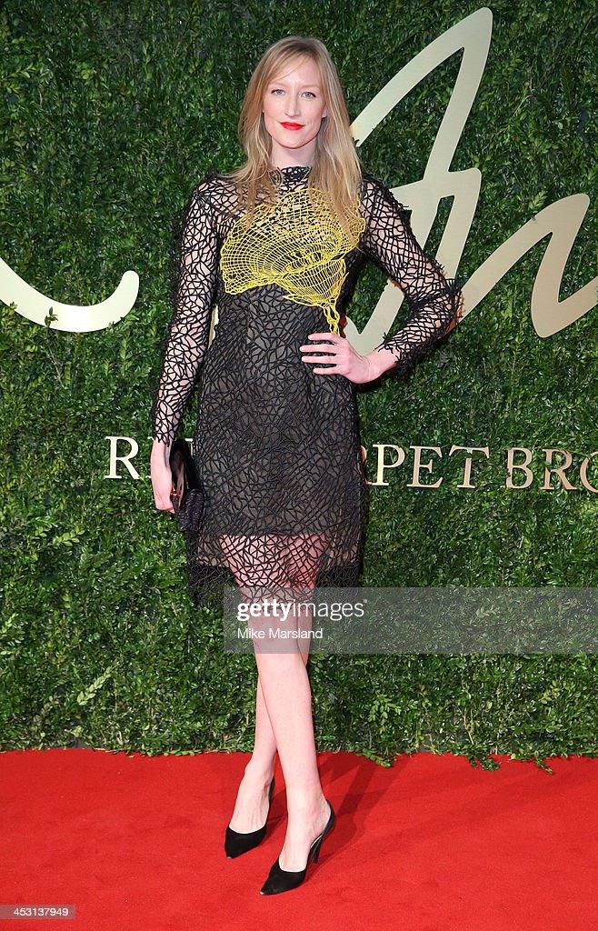 Jade Parfitt attends the British Fashion Awards 2013 at London Coliseum on December 2, 2013 in London, England.