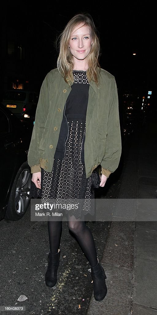 Jade Parfitt attends the Diet Coke private party held at Sketch restaurant on January 30, 2013 in London, England.