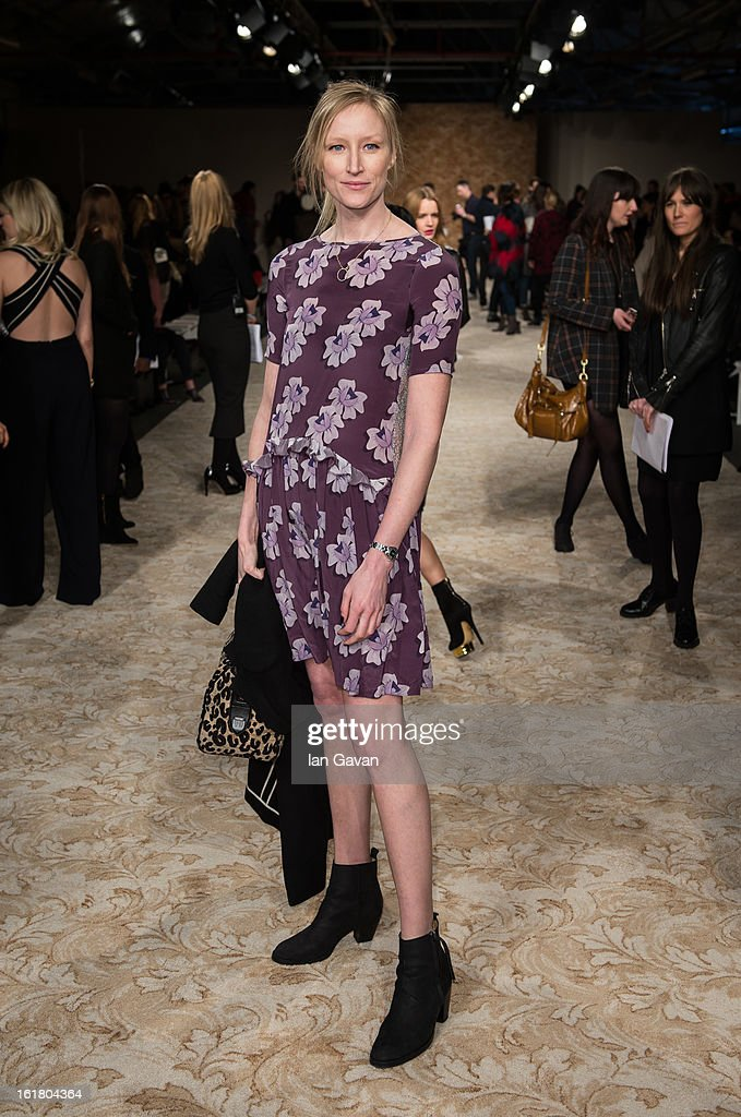 Jade Parfitt attends the House of Holland show during London Fashion Week Fall/Winter 2013/14 at Brewer Street Car Park on February 16, 2013 in London, England.