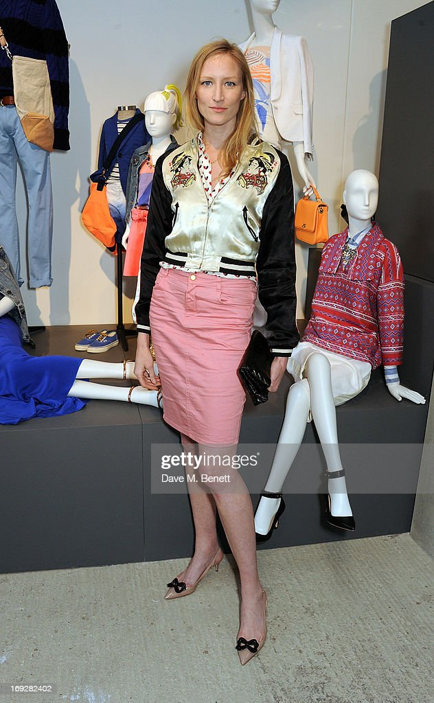Jade Parfitt attends the J.Crew concept store to launch their partnership with Central Saint Martins College Of Arts And Design at The Stables on May 22, 2013 in London, England.