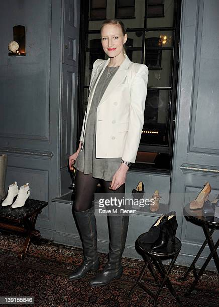 Jade Parfitt attends the launch of the Zoe Lee A/W 2012 collection hosted by Jade Parfitt and Jasmine Guinness at Blacks on February 17 2012 in...