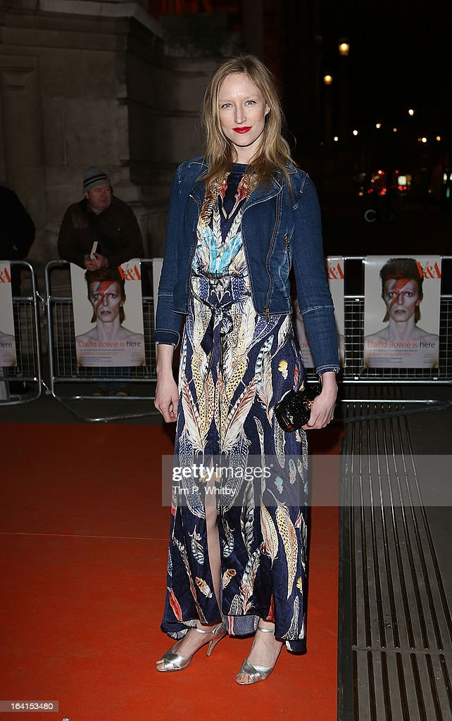 Jade Parfitt attends the private view of 'David Bowie Is' at Victoria & Albert Museum on March 20, 2013 in London, England.