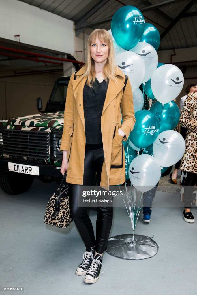 Jade Parfitt attends the Women for Women International #SheInspiresMe car boot sale at Brewer Street Car Park on May 6, 2017 in London, England.