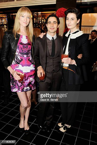 Jade Parfitt Zac Posen and Erin O'Connor attend the launch of the Belvedere Bloody Mary Brunch hosted by New York designer Zac Posen at Le Caprice on...