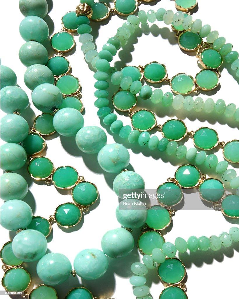 Jade pearls.