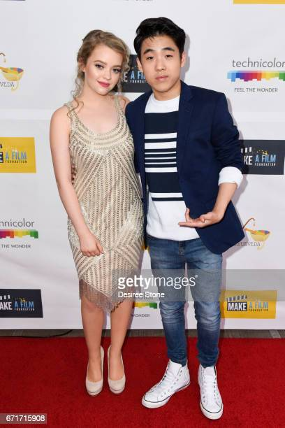 Jade Pettyjohn and Lance Kim attend the Premiere of 'The Black Ghiandola' hosted by Make A Film Foundation at Samuel Goldwyn Theater on April 22 2017...