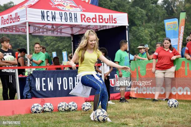 Jade Pettyjohn attends Nickelodeon's Worldwide Day Of Play Celebration at the Nethermead in Prospect Park on September 16 2017 in Brooklyn New York