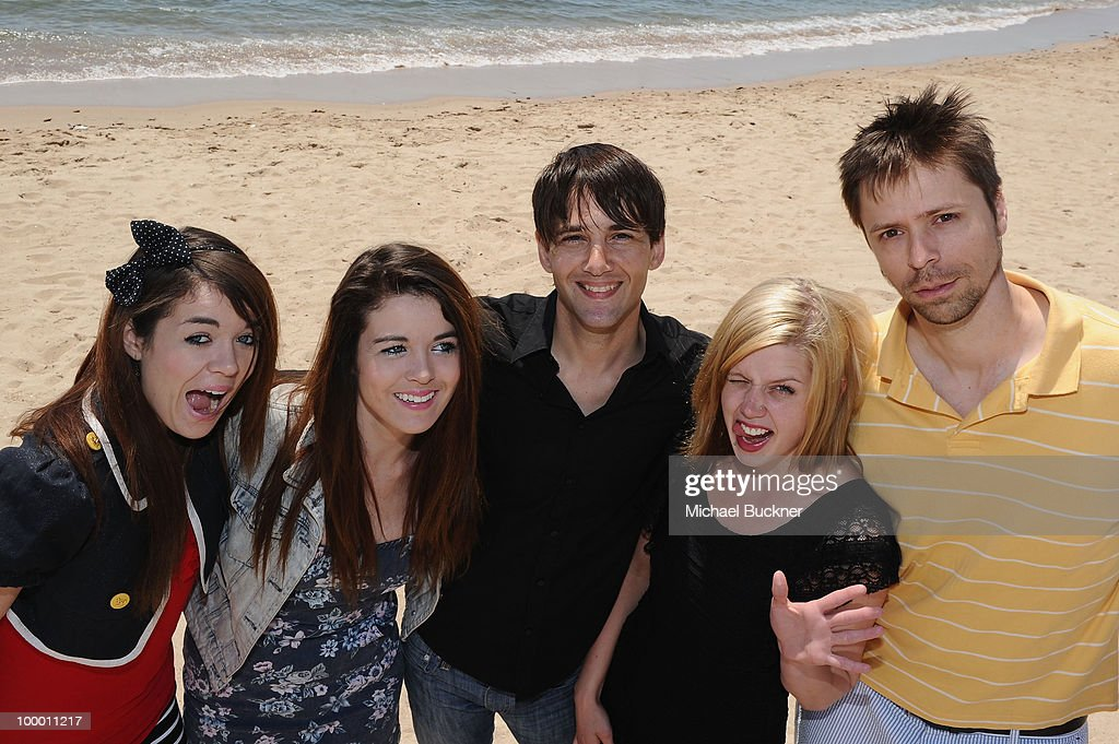 Jade Ramsey, Nikita Ramsey, David Robert Mitchell, Amanda Bauer and Brett Jacobsen attend the 'Myth of the American Sleepover' Photocall held at the American Pavillion during the 63rd Annual Cannes Film Festival on May 20, 2010 in Cannes, France.