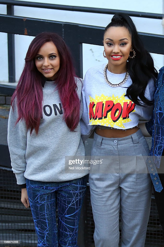 Jade Thirlwall and Leigh-Anne Pinnock from Little Mix seen at The ITV Studios on November 23, 2012 in London, England.
